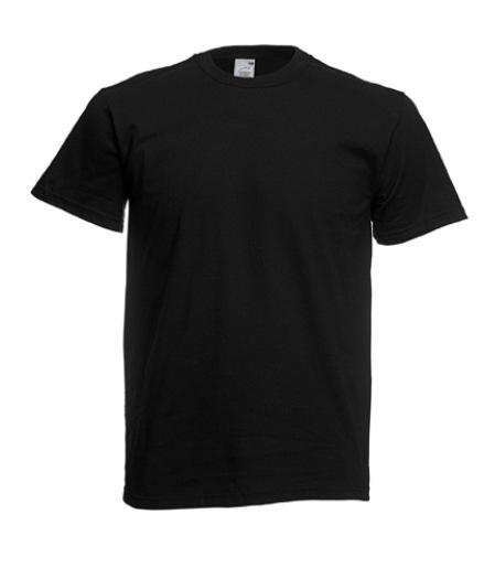 čierne bavlnené tričko na sublimáciu