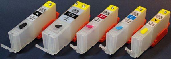 obnoviteľné atramentové kazety do tlačiarní canon