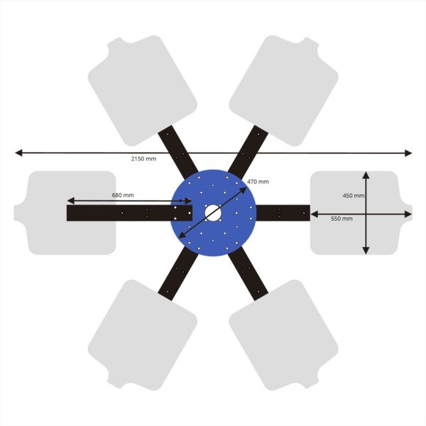 Karusel na sieťotlač - 6 farieb, 6 tlačových dosiek + konštrukcia